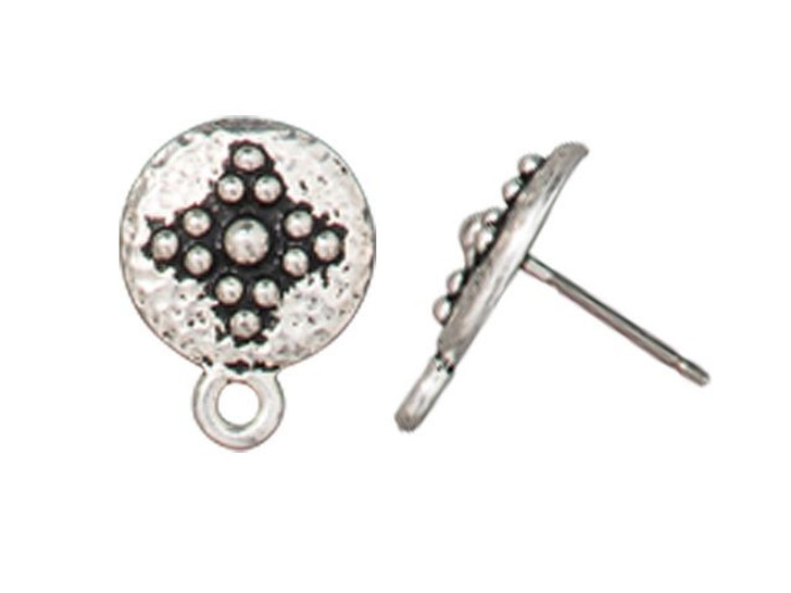 TierraCast Silver-Plated Pewter Opulence Post Earring (Pair)
