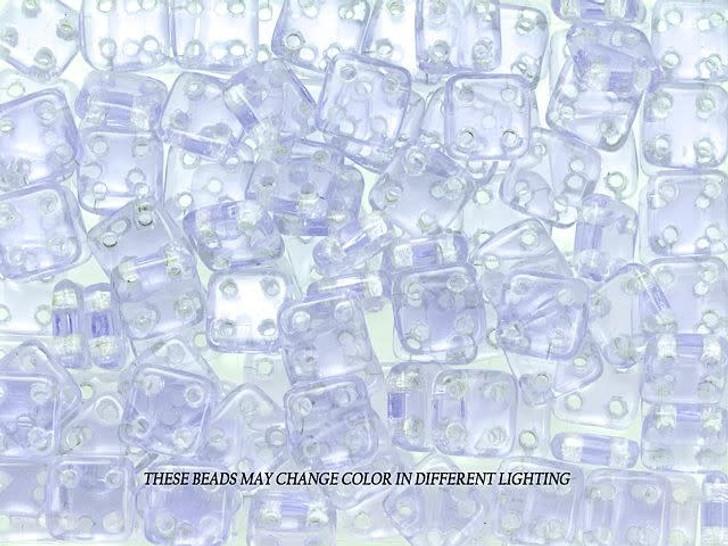 CzechMates Glass 6mm 4-Hole Alexandrite QuadraTile Bead 2.5-Inch Tube