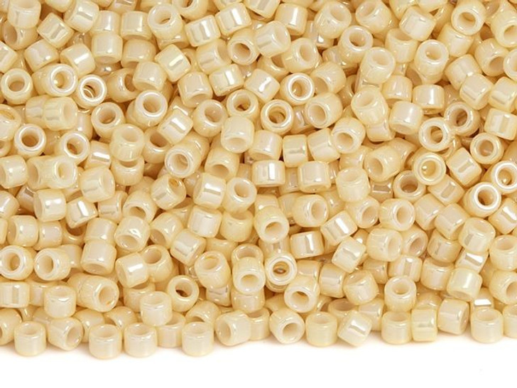 TOHO Aiko 11/0 Opaque Lt Beige Luster Precision Cylinder Seed Beads, 4g Pack