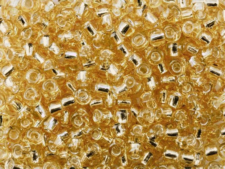 TOHO Bead Round 6/0 Silver-Lined Light Gold 2.5-Inch Tube