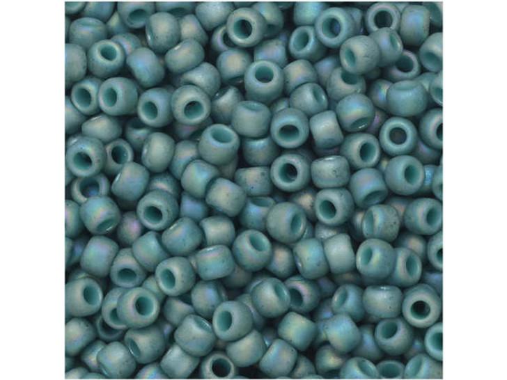 TOHO Bead Round 8/0 Semi-Glazed Turquoise AB 2.5-Inch Tube