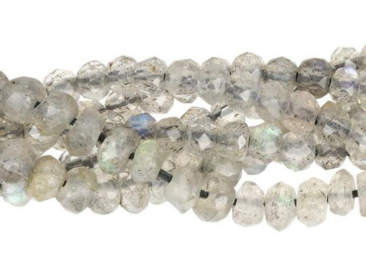 Dakota Stones (A Grade) Labradorite 3mm Faceted Rondelle Bead Strand