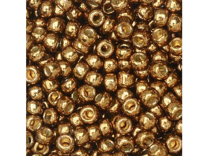 TOHO Round Bead 8/0 PermaFinish Galvanized Medal Bronze 2.5-Inch Tube
