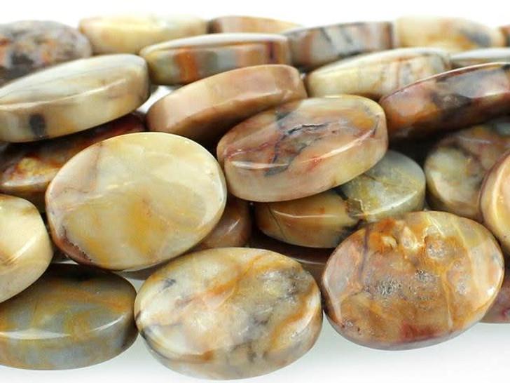 Dakota Stones 10x14mm Venus Jasper Oval Bead Strand