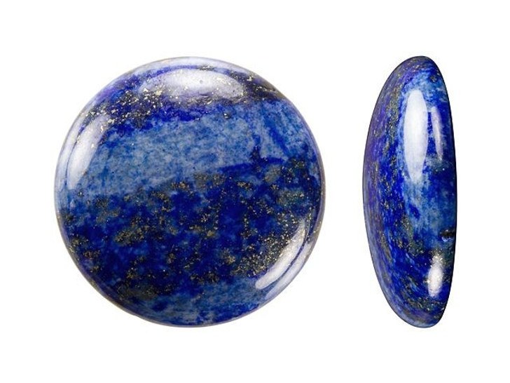 Dakota Stones 25mm Lapis Lazuli Coin Cabochon