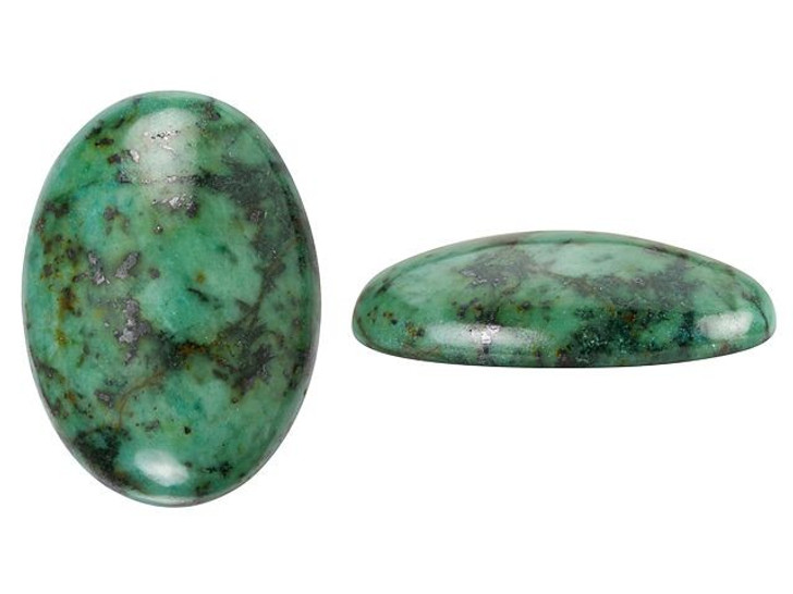 Dakota Stones 25x18mm African Turquoise Jasper Oval Cabochon