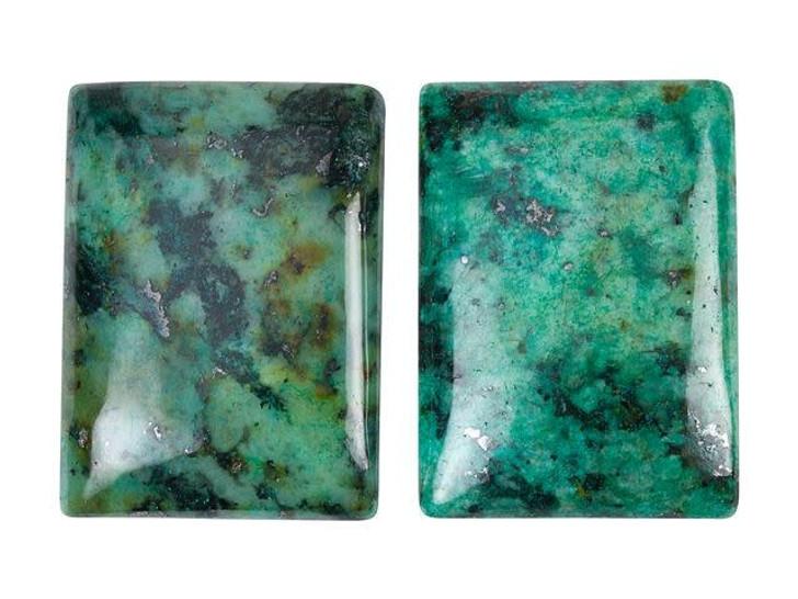 Dakota Stones 25x18mm African Turquoise Jasper Rectangle Cabochon