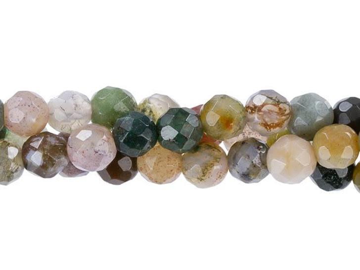 Dakota Stones 4mm Fancy Jasper Faceted Round Bead Strand