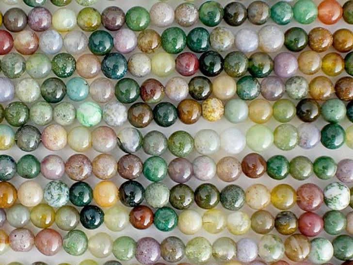 Dakota Stones 4mm Fancy Jasper Round Bead Strand