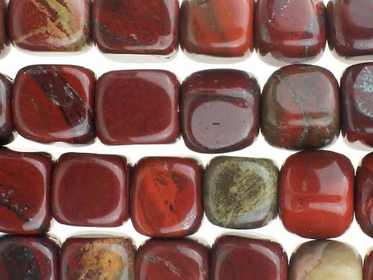 Dakota Stones 7mm Apple Jasper Cube Bead Strand