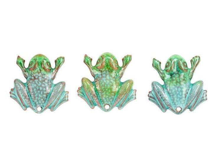 Gardanne Beads Pepperment Blend Enameled Brass Frog Pendant