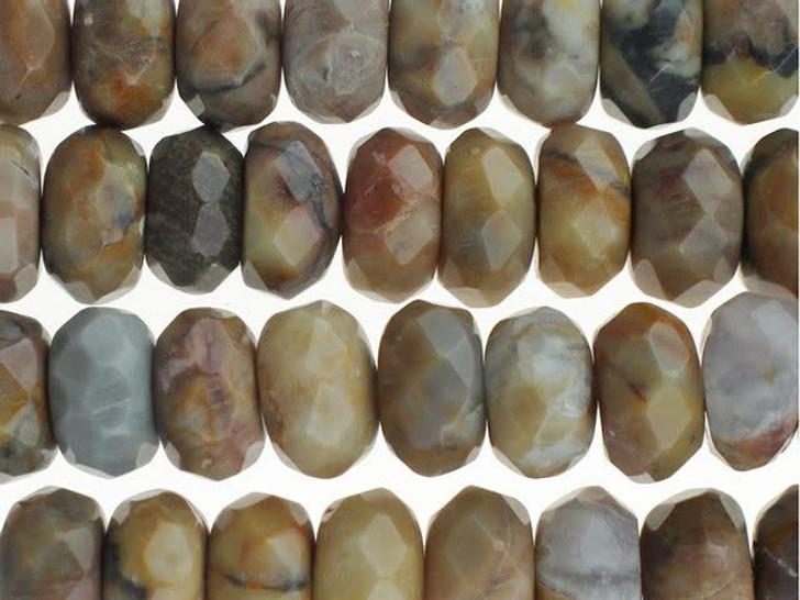 Dakota Stones 8mm Venus Jasper Faceted Roundel Bead Strand