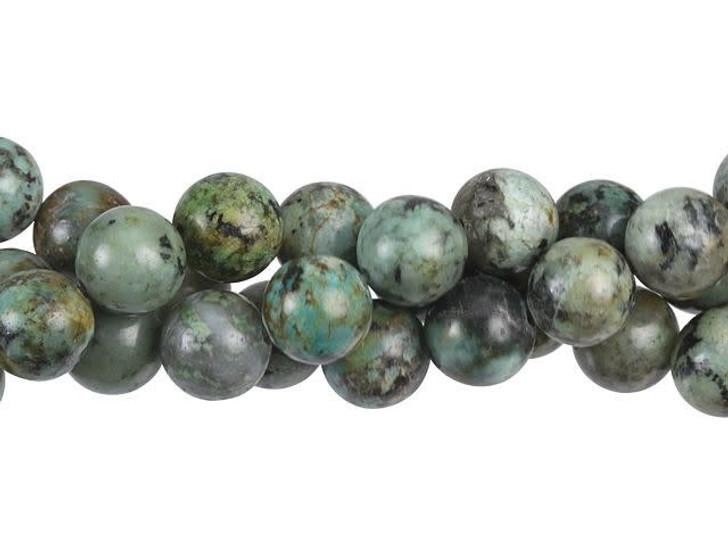 Dakota Stones African Turquoise Jasper 10mm Round Bead Strand