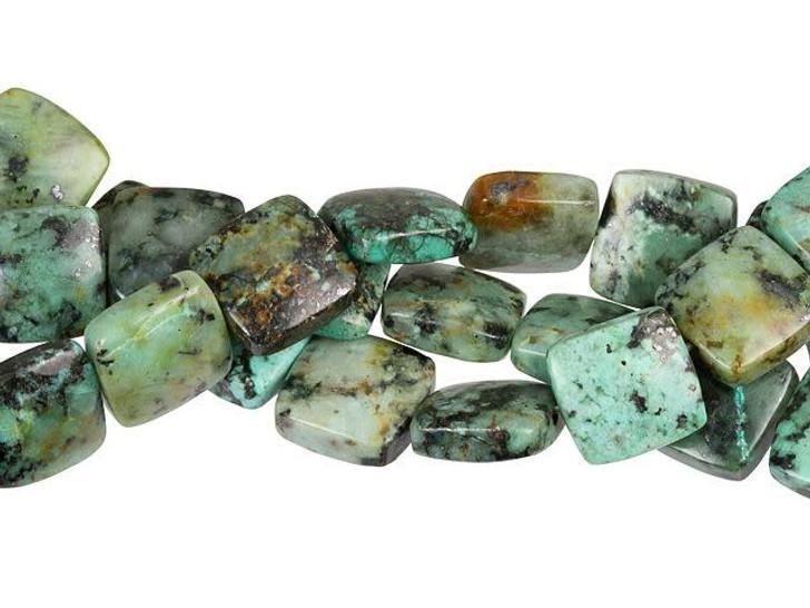 Dakota Stones African Turquoise Jasper 12mm Square Bead Strand