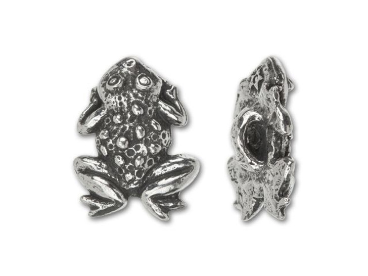 Green Girl Studios Pewter Frog Button