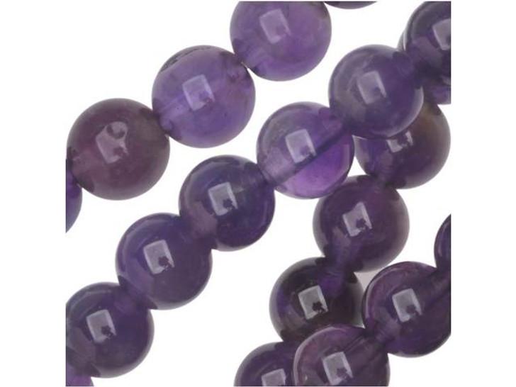 Dakota Stones Amethyst 6mm Round Bead Strand