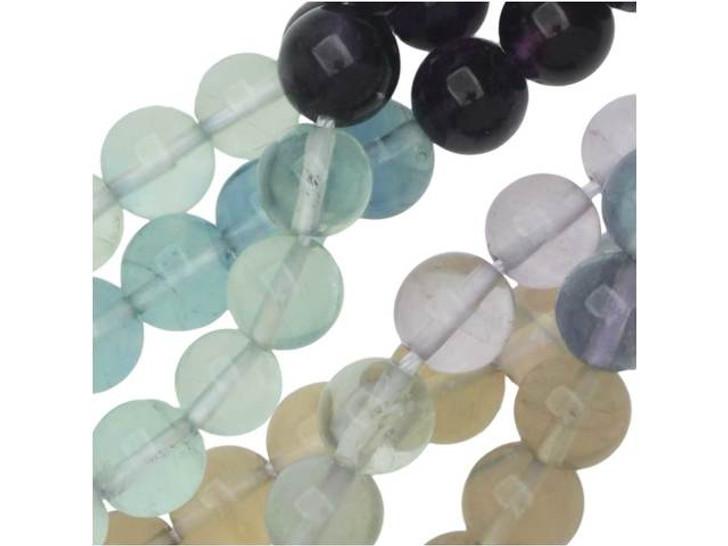 Dakota Stones Banded Fluorite 6mm Round Bead Strand