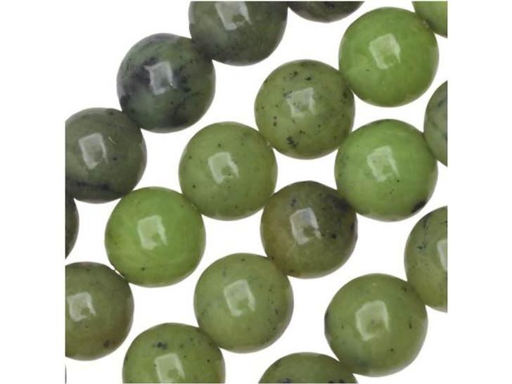 Dakota Stones Canadian Jade 6mm Round Bead Strand