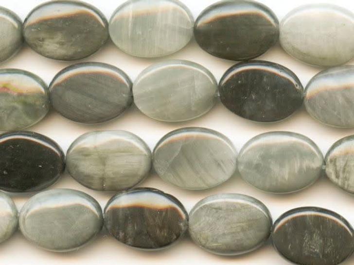 Dakota Stones Cat's Eye 10x14mm Oval Bead Strand