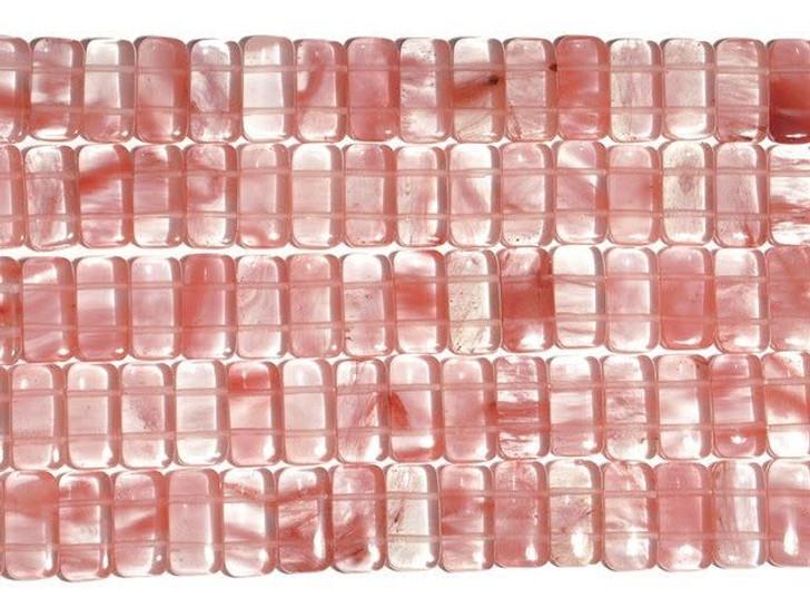 Dakota Stones Cherry Quartz 10x20mm Double Drill Bead Strand