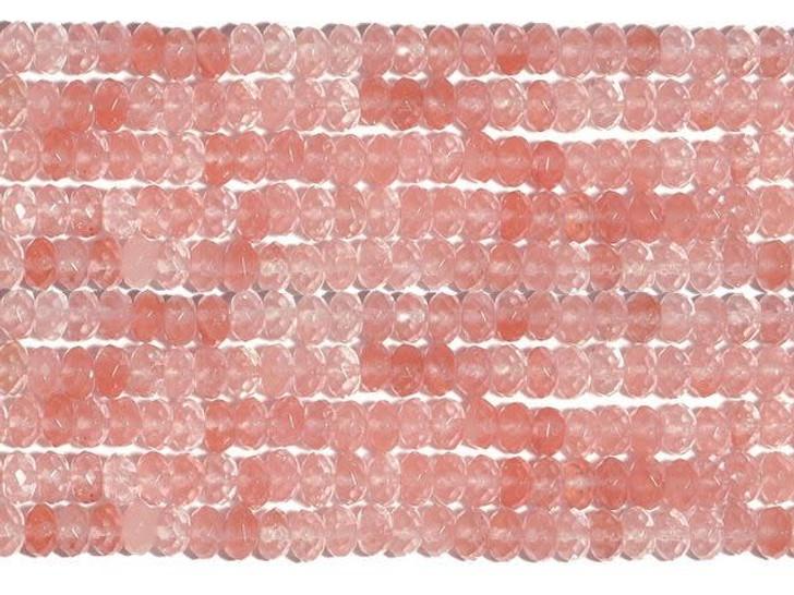 Dakota Stones Cherry Quartz 8mm Faceted Roundel Bead Strand