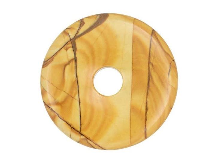 Dakota Stones Desert Jasper 40mm Donut Pendant