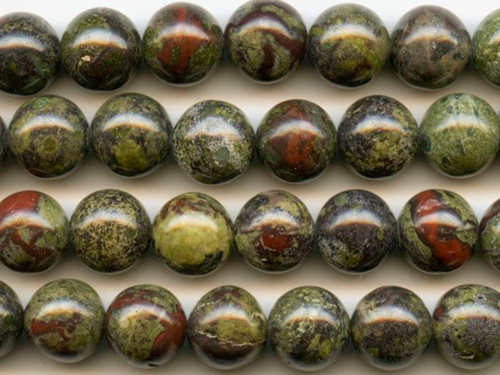 Dakota Stones Dragon Blood Jasper 10mm Round Bead Strand