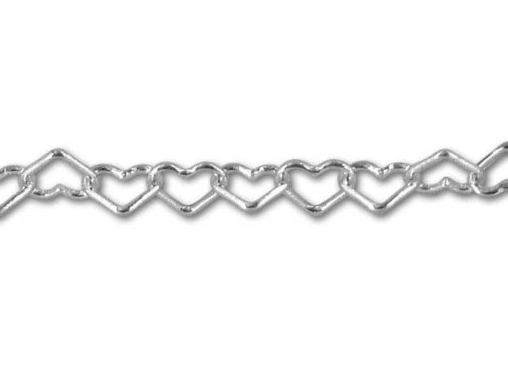 038 Sterling Silver Heart Chain by the Foot