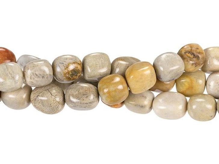Dakota Stones Fossil Coral 8 x 10mm Nugget Bead Strand