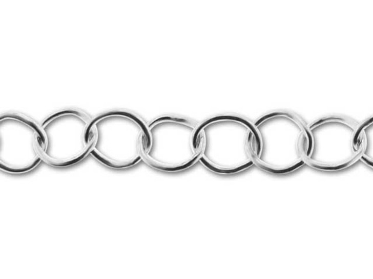 040 Round Link Sterling Silver Chain by the Foot