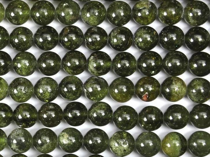 Dakota Stones Green Garnet 8mm Round Bead Strand