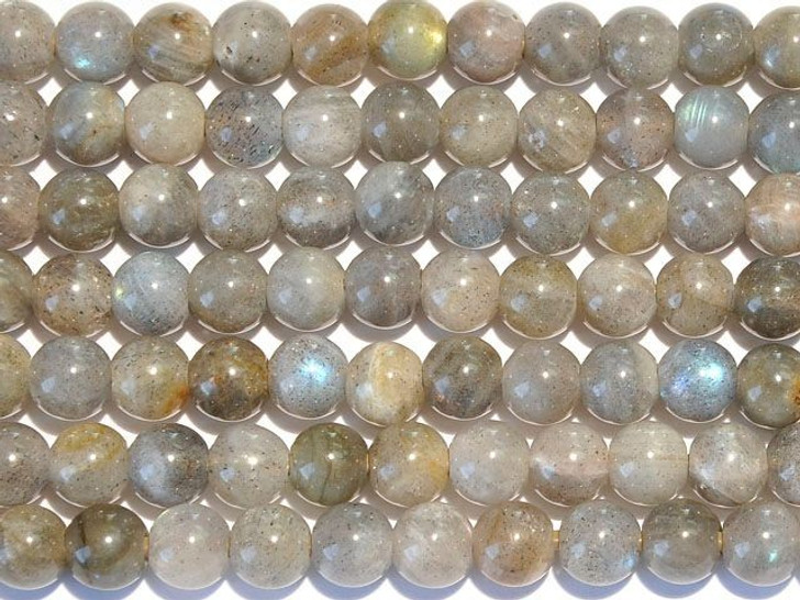Dakota Stones Labradorite 8mm Large-Hole Round Bead Strand