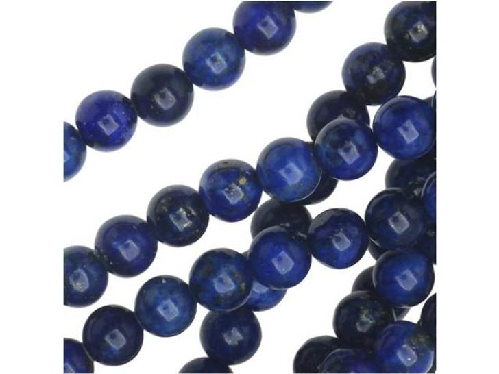 Dakota Stones Lapis Lazuli 4mm Round Bead Strand