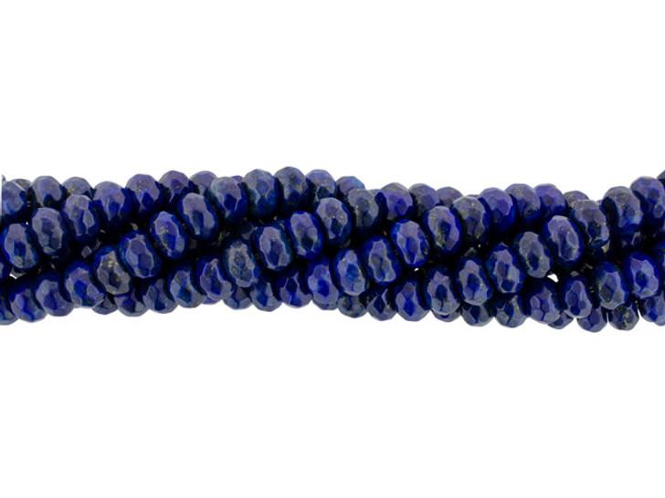 Dakota Stones Lapis Lazuli 8mm Faceted Roundel Bead Strand