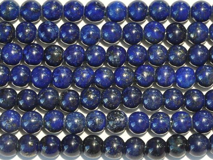 Dakota Stones Lapis Lazuli 8mm Large-Hole Round Bead Strand