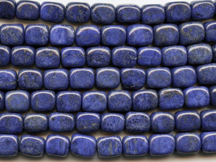 Dakota Stones Lapis Lazuli 8x10mm Tumble Nugget Bead Strand