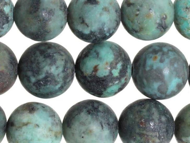 Dakota Stones Matte African Turquoise Jasper 10mm Round Bead Strand