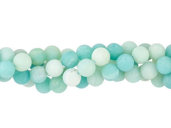 Dakota Stones Matte Amazonite 6mm Round Bead Strand
