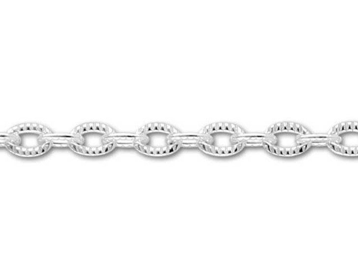 055 Sterling Silver Pattern Cable Chain by the Foot