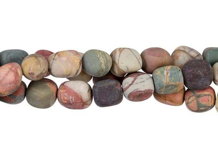 Dakota Stones Matte Red Creek Jasper 8x10mm Tumble Nugget Bead Strand