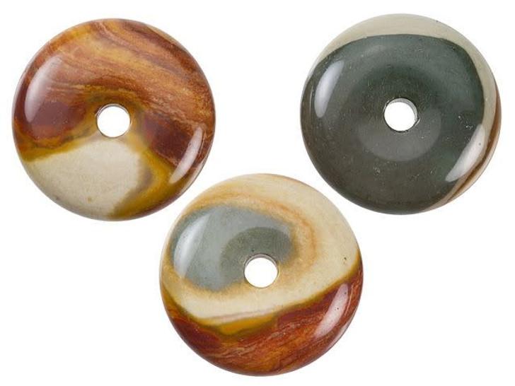 Dakota Stones Polychrome Jasper 25mm Donut Pendant