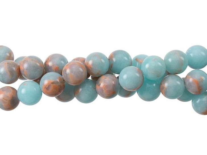 Dakota Stones Powder Blue Impression Jasper 8mm Round Bead Strand