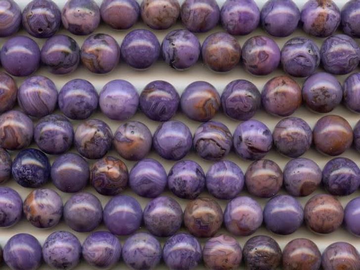 Dakota Stones Purple Crazy Lace Agate 12mm Round Bead Strand
