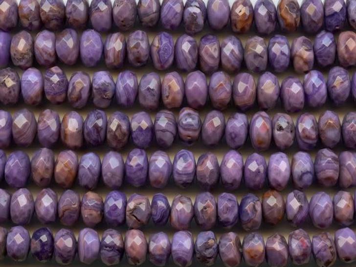 Dakota Stones Purple Crazy Lace Agate 8mm Faceted Roundel Bead Strand