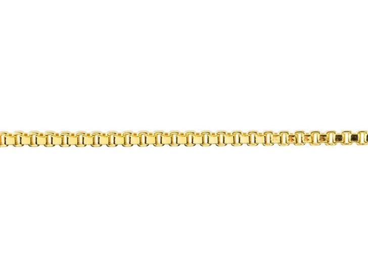 1.2mm Gold-Plated Brass Box Chain By the Foot