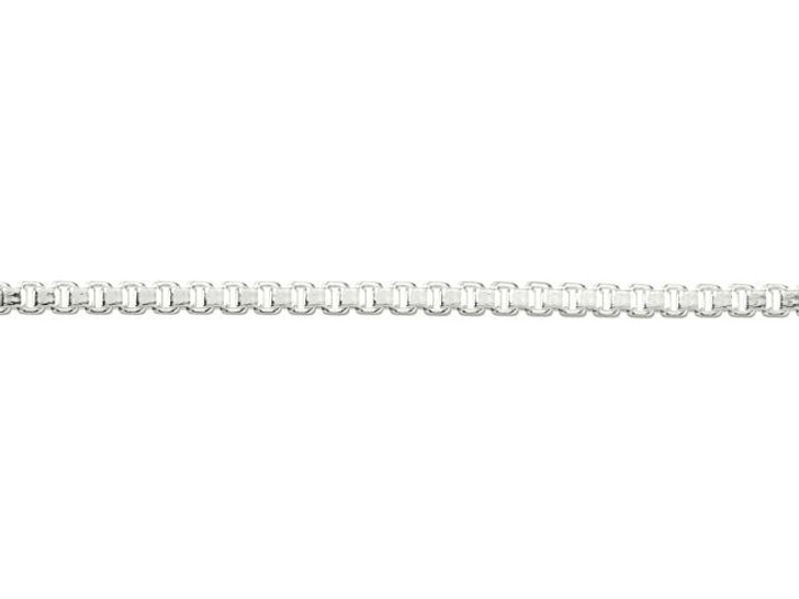 1.2mm Silver-Plated Brass Box Chain By the Foot
