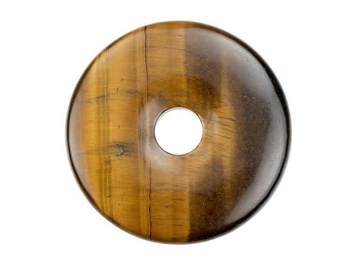 Dakota Stones Tiger Eye 40mm Donut Pendant