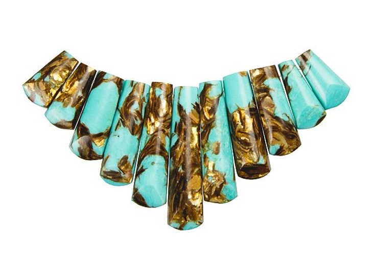 Dakota Stones Turquoise and Bronzite 11-Piece Ladder Pendant Set