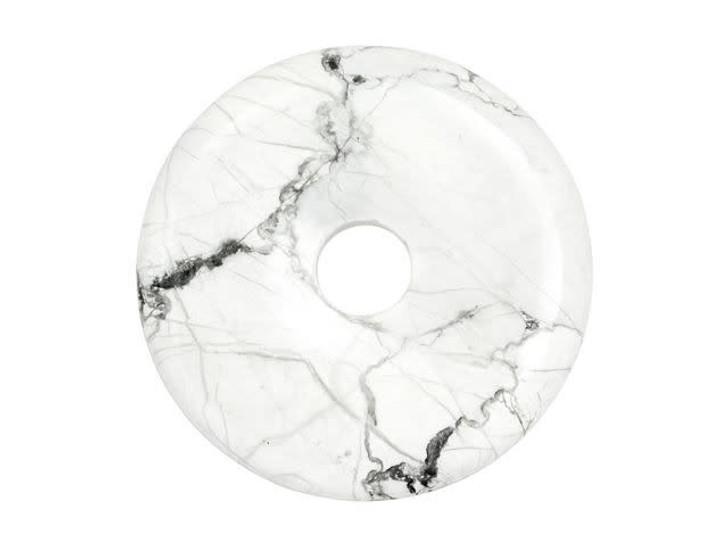 Dakota Stones White Howlite 40mm Donut Pendant