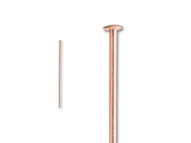 1.5-Inch Copper 22 Gauge Head Pin